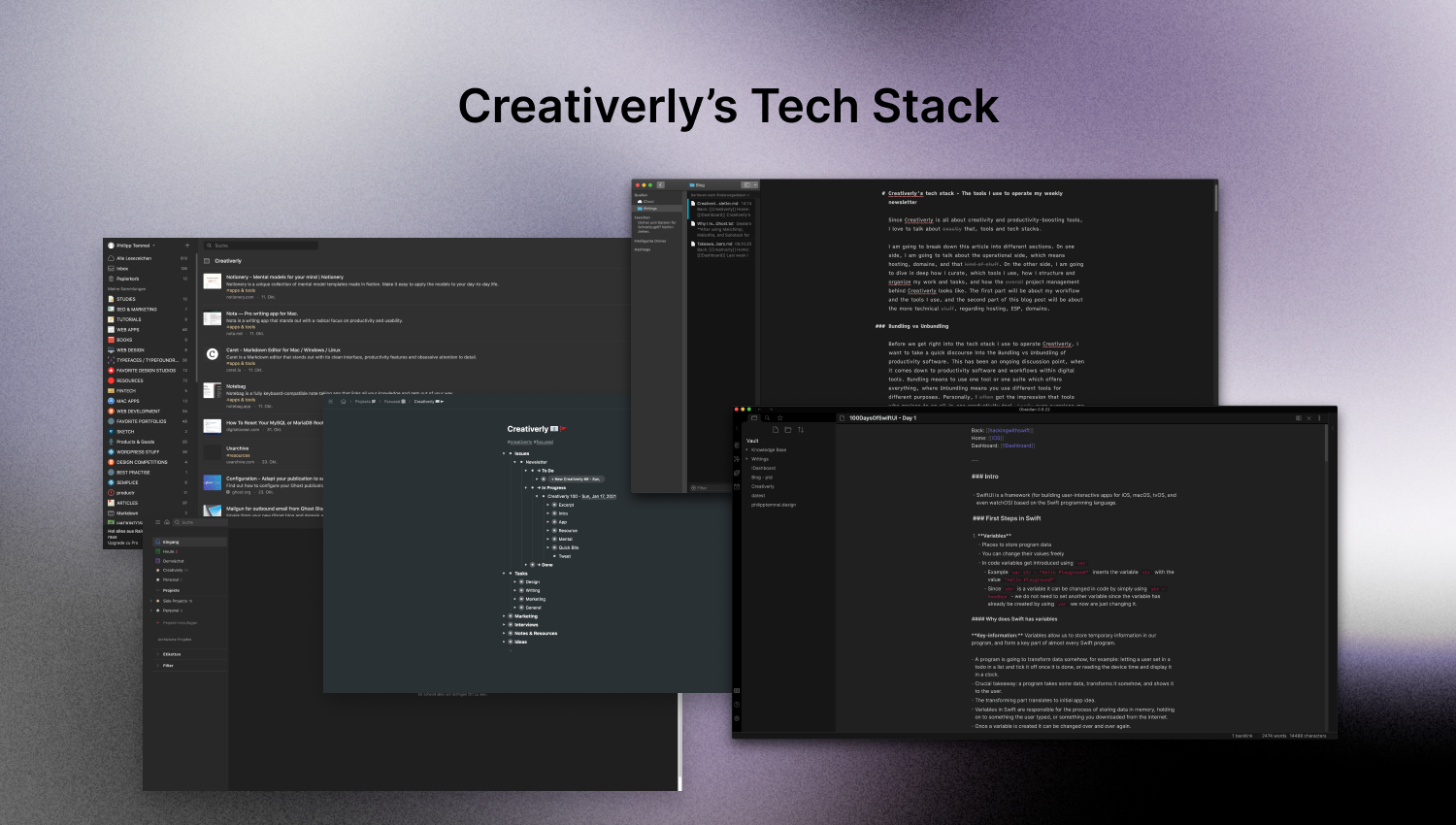 Creativerly's tech stack - The tools I use to operate my weekly newsletter