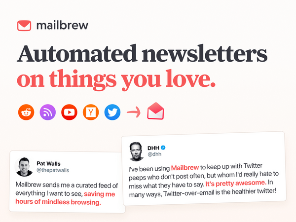 Finding your purpose & Automated newsletters on things you love